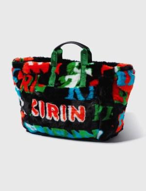 Kirin Big Typo Fur Jacquard Airport Bag