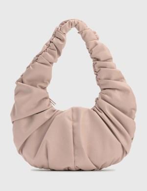 Nanushka Anja Baguette Ruched Vegan Leather Shoulder Bag