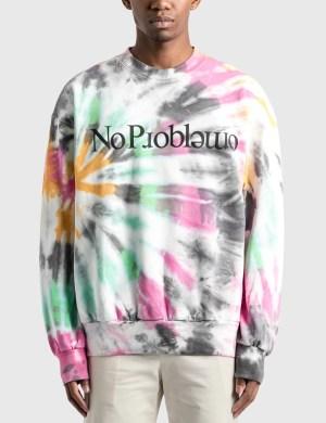 Aries Tie Dye Problemo Sweatshirt