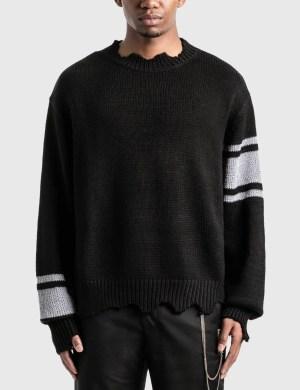 C2H4 Los Angeles C2H4 x Mastermind Japan Reflective Knit Sweater