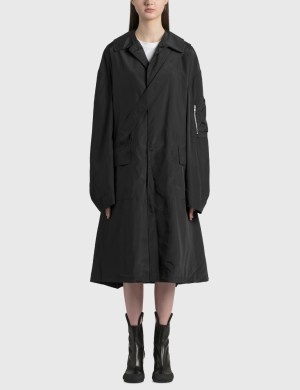 Random Identities Satin Overcoat