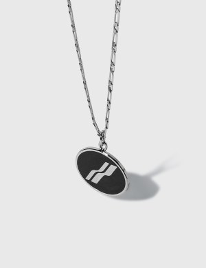 We11done Oval Logo Necklace