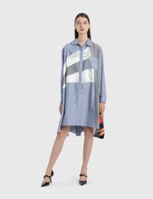 KOCH Contrast Paneled Shirt Dress