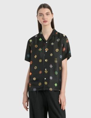 Kirin Flowers Jacquard Bowling Shirt