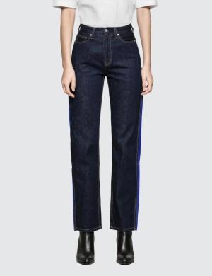 Calvin Klein Jeans High Rise Straight Side Stripe