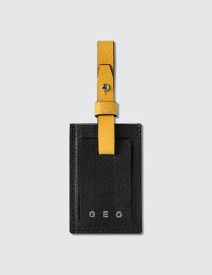 GEO Leather Luggage Tag