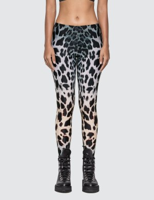 R13 Faded Leopard Leggings