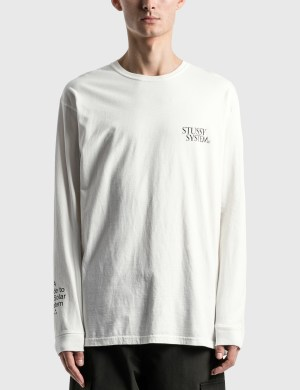 Stussy Solar System Pig. Dyed Long Sleeve T-Shirt
