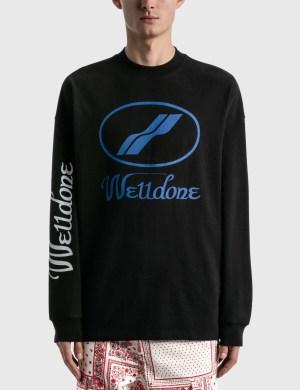 We11done We11done Print Logo Long Sleeve T-Shirt