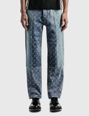 Marine Serre Moon Denim Trousers