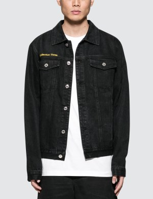 GEO World Peace Denim Nylon Jacket