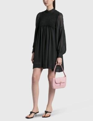 BY FAR Miranda Peony Grained Leather Bag