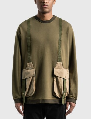 White Mountaineering Hunting Pocket Taped Sweatshirt