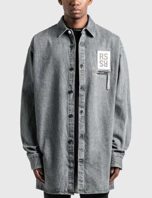 Raf Simons Zipped Pocket Big Fit Denim Shirt