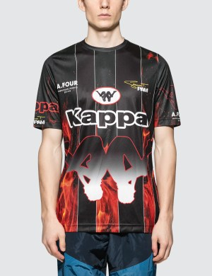 Perks and Mini P.A.M. x A.Four Labs x Kappa Sublimation Football Shirt
