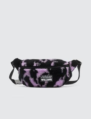 Ashley Williams Animal Print Shearling Belt Bag
