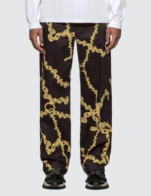 Aries Gold Chain Print Chino Pants