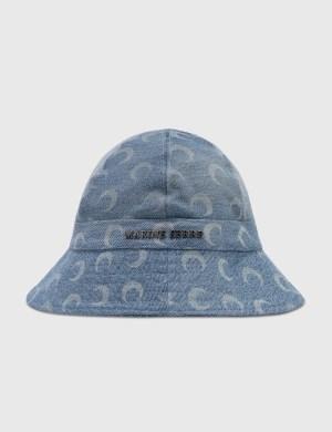 Marine Serre Moon Denim Bell Hat