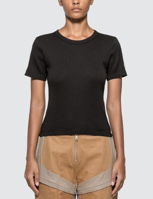 Champion Reverse Weave Ribbed Cropped T-shirt