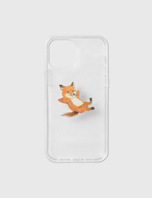 Maison Kitsune Chillax Fox Transparent iPhone 12/ 12 Pro Case