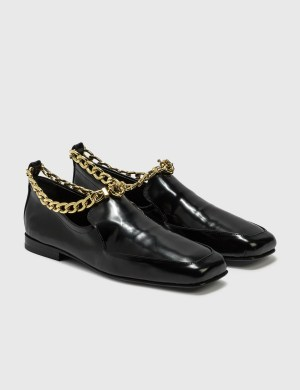 BY FAR Nick Black Semi Patent Leather Shoes