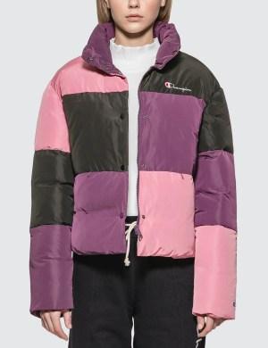Champion Reverse Weave Color Block Puff Down Jacket