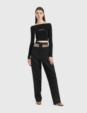 Dion Lee Fishnet Tailored Pants