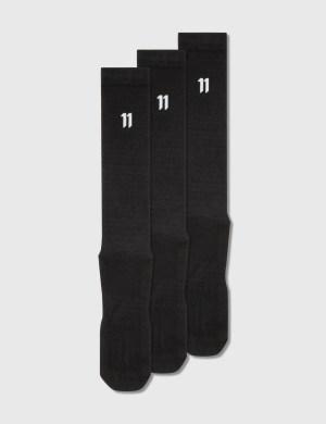 11 By Boris Bidjan Saberi 3 Pack Logo Long Socks