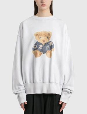 We11done Denim Jacket Teddy Sweatshirt