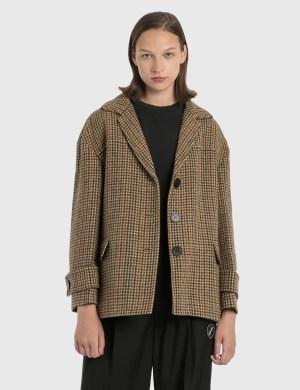 We11done We11done Oversized Plaid Wool Jacket
