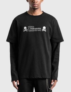 C2H4 Los Angeles C2H4 x Mastermind Japan Double Layer Long Sleeve T-Shirt