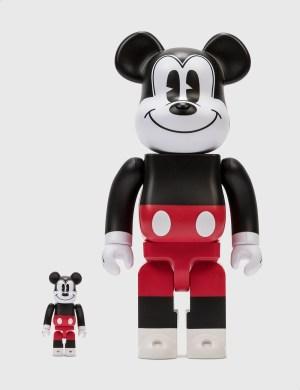 Medicom Toy Be@rbrick Mickey Mouse (R&W 2020 Ver.) 100&400 Set