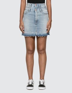Aries Double Waistband Denim Skirt