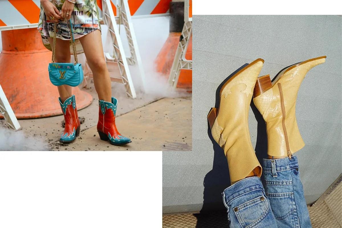Resultado de imagen para cowboy boots street style neon