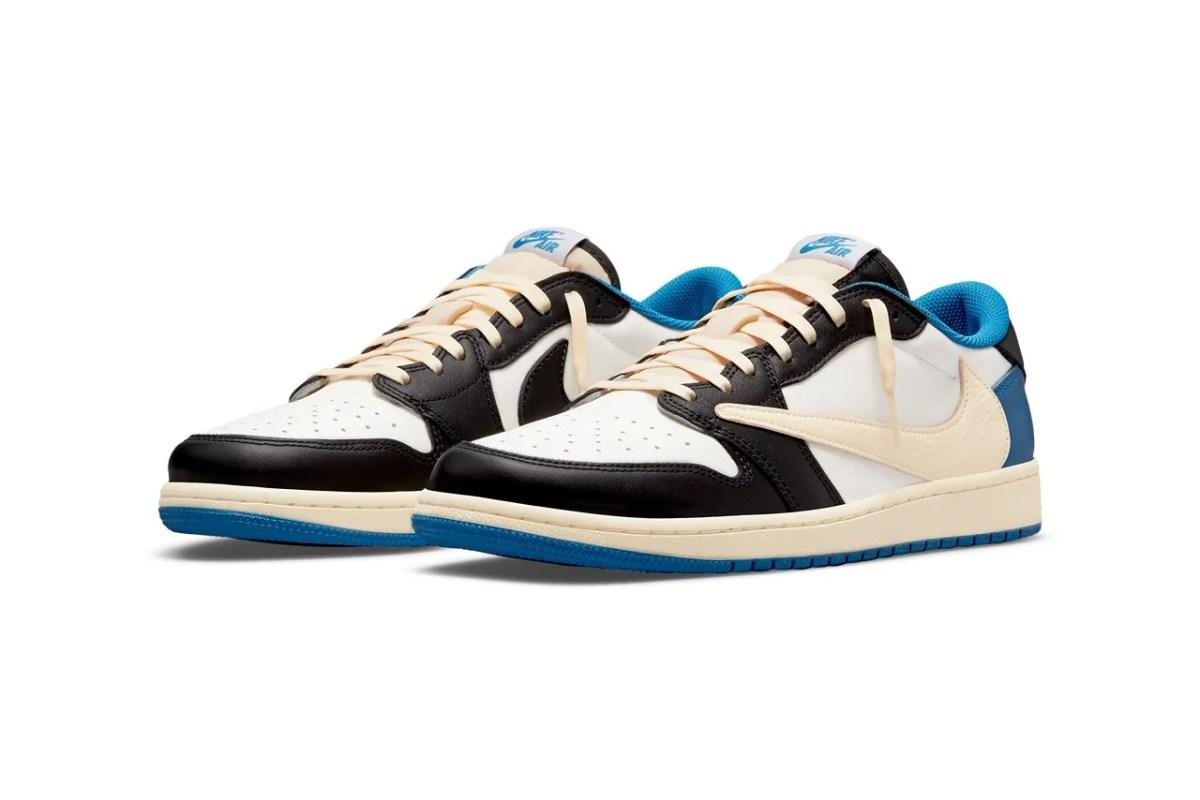 Travis Scott x fragment design x Air Jordan 1 Low 聯乘鞋款官方圖輯、發售情報公佈| HYPEBEAST
