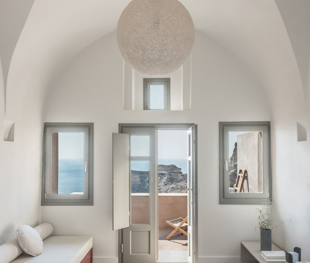 Small Hotel Oia Castle By Kapsimalis Architects Homes Houses Hotels Modern Sleek Interior Exterior Sea View