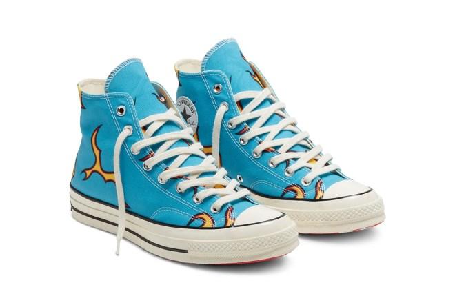 golf wang golf le fleur converse chuck 70 flames sneaker release tyler the creator blue colorway