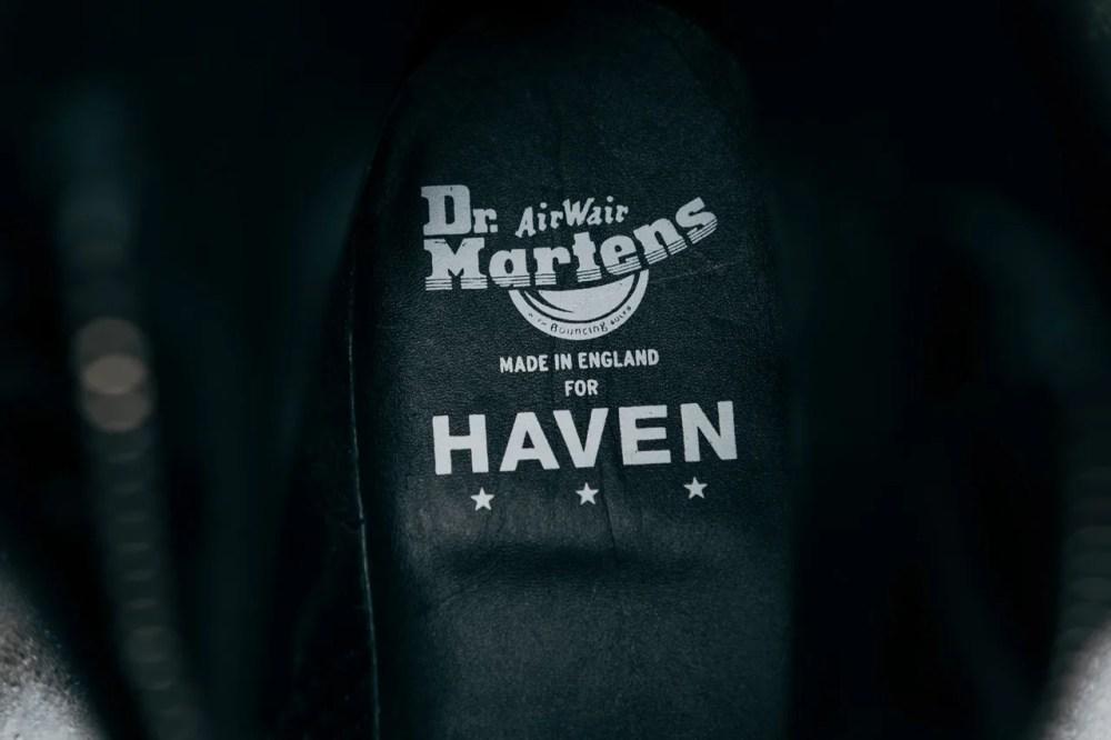 HAVEN Dr. Martens 1460 Jungle Boot Black Ziggy Sole Buck collaboration november 15 8 2019 buy drop colorway info