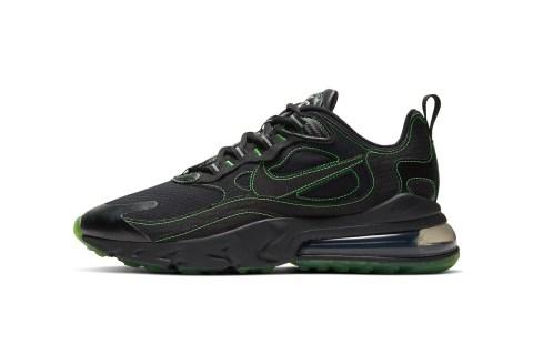 Nike Air Max 270 React SP 'Black / Electric Green' .97 Free Shipping
