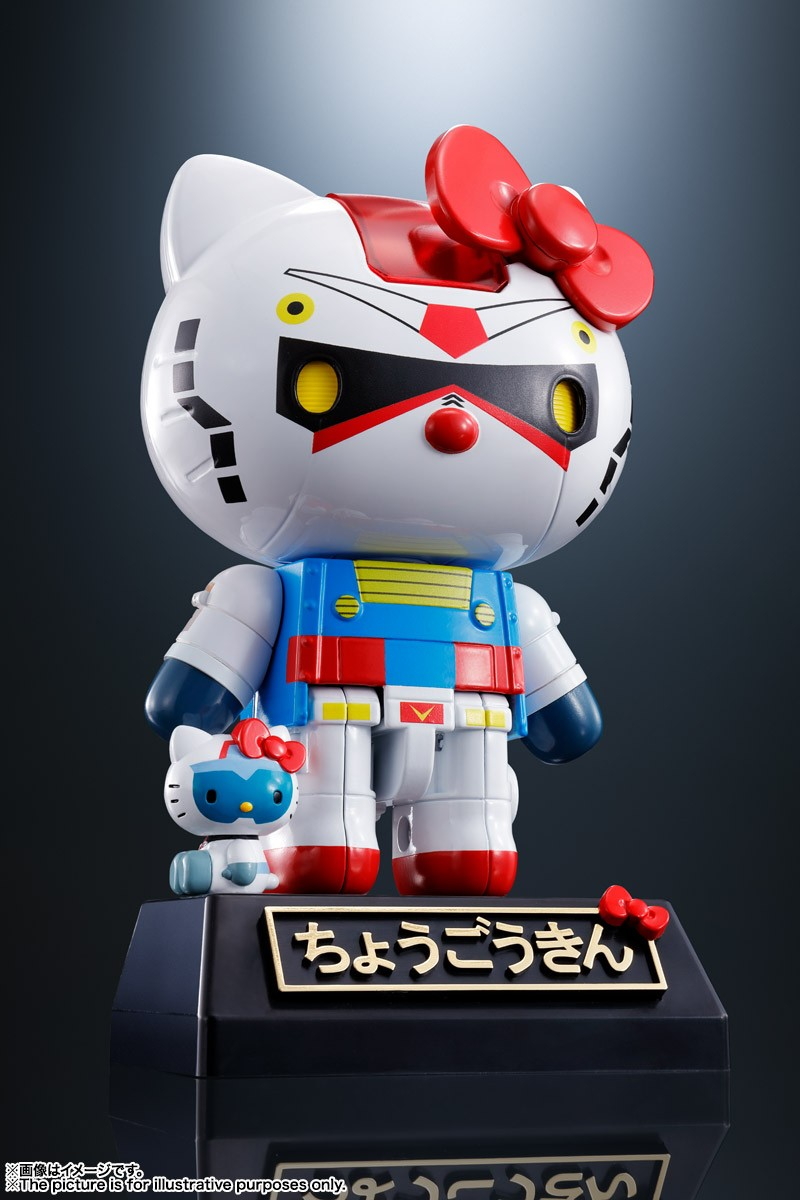 Hello Kitty Mobile Suit Gundam Crossover Mecha Figures Collectables Peaceful Figures Of Friendship