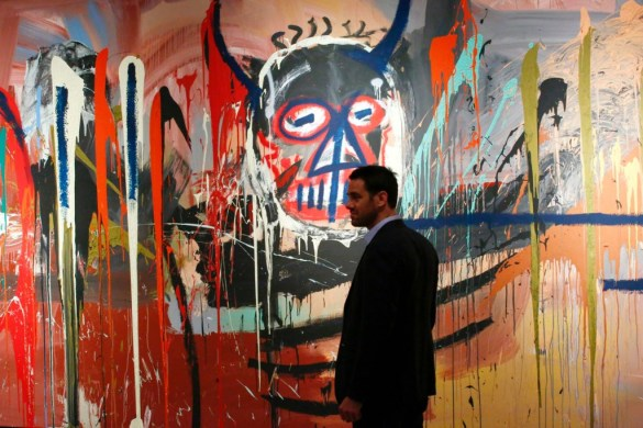 Jean Michel-Basquiat In-App Purchase Record Loïc Gouzer painting artwork 'untitled'