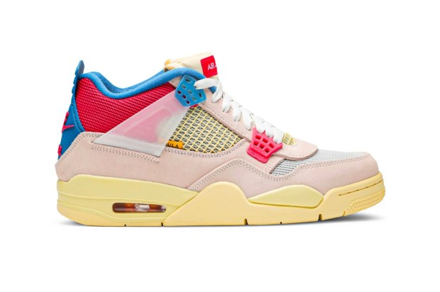 Union Air Jordan 4 Retro Guava Ice First Look dc9533-800 Full Release Info Buy Price Light Bone Brigade Blue Fusion Red