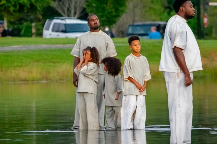 Kanye West Walks on Water Sunday Service Atlanta Photos Info