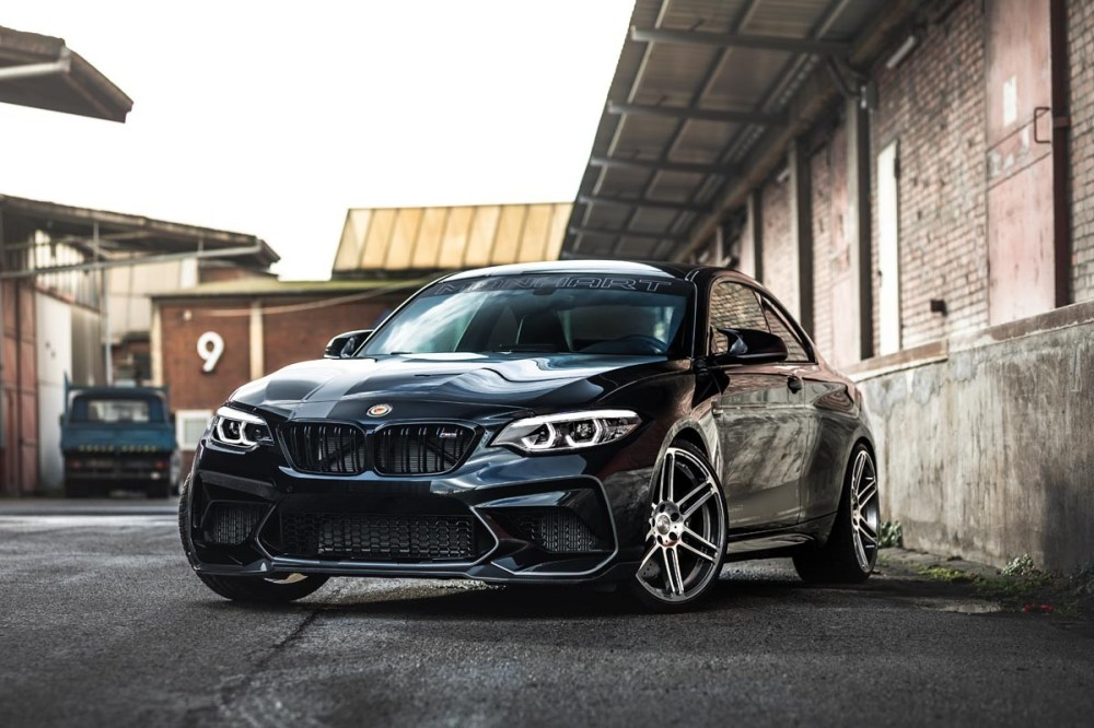MANHART PERFORMANCE MH2 500 BMW M2 Competition Tuned Super Coupe German Sports Car Turbocharged V6 Engine 518 HP 700 Nm Torque M Power Custom Wide Body Kit Rims Lowered