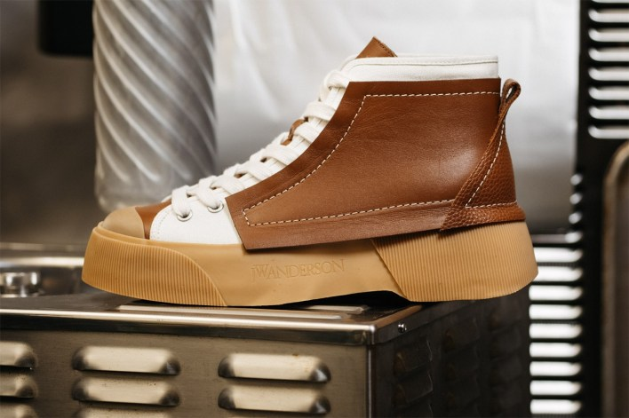 JW Anderson Sneaker Collection footwear fashion canvas leather rubber hi top streetwear contemporary