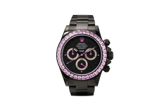 MAD Paris 打造要價近 $82,000 美元 Rolex Daytona 粉紅藍寶石定製腕錶