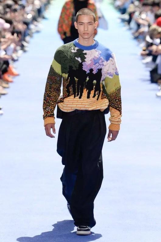 Moda Męska Wiosna Lato 2019 sweter vuitton