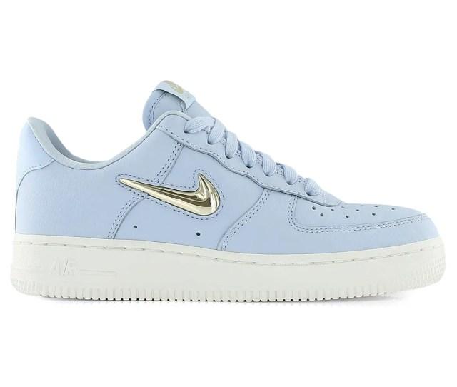 Nike Air Force 1 Premium Lx Royal Tint Blue Metallic Gold Summit White