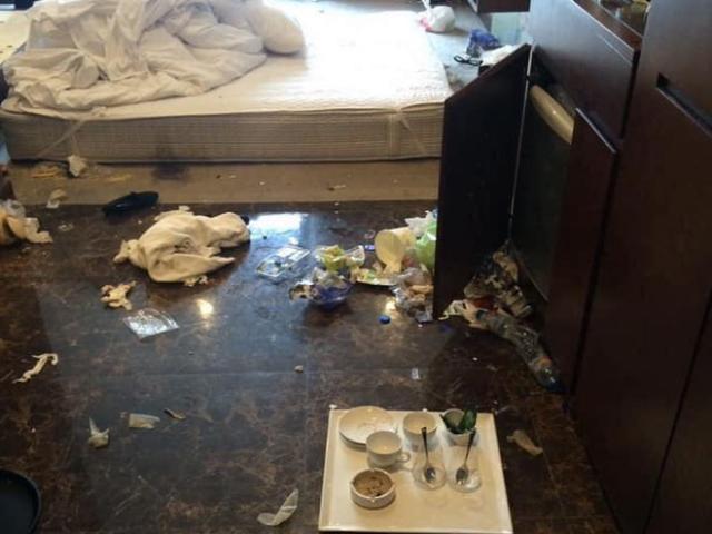 Du khách Hạ Long biến khách sạn hạng sang thành bãi rác kinh hoàng, dân mạng phản ứng gay gắt