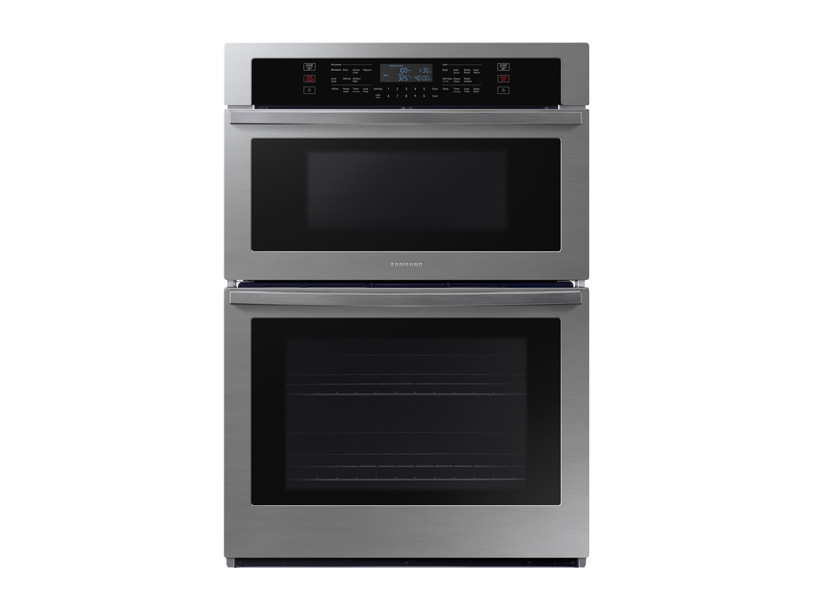 30 smart microwave combination wall oven in stainless steel